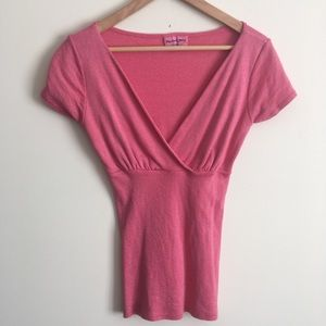 Michael Stars | Pink Metallic Top OS